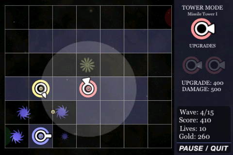 Another screenshot of touchDefense gameplay.