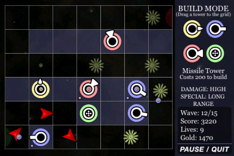 Third screenshot of touch defense gameplay.