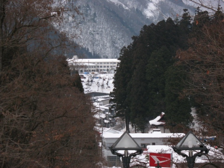 A picture of Kamioka in the winter.