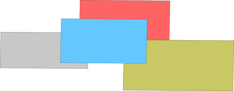 A picture of layered squares.