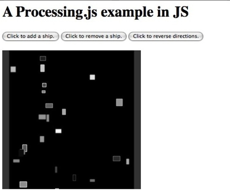 Superspace application in Processing.js