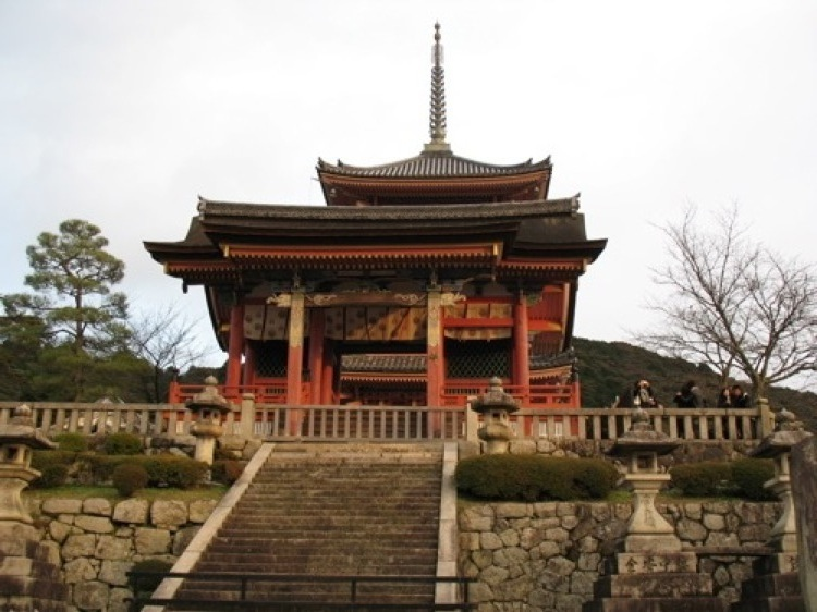 One of the structures at Kiyomizudera